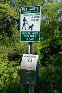 Dog Walk Area Signage