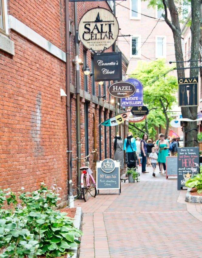 Downtown Portsmouth Boutique Shops